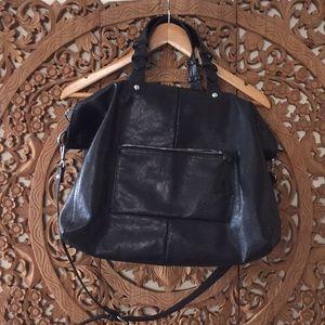 Zara faux black leather  bag